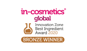 Bronze winner of the in-cosmetics global best ingredient award 2020
